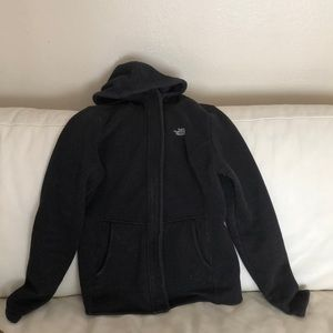 North face fleece hooded jacket